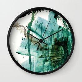 """""""Making Marks"""". Phthalo Green Series, No 2. Wall Clock"""