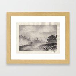 Adirondacks in the Mist Framed Art Print