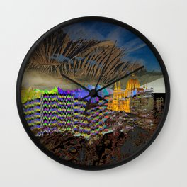 landscape collage #23 Wall Clock