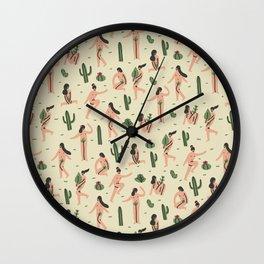Girls loves cactus Wall Clock