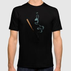 Matches MEDIUM Black Mens Fitted Tee