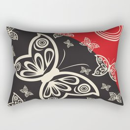 Pattern with butterflies and flowers Rectangular Pillow