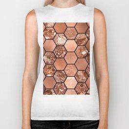Rose gold hexaglam Biker Tank