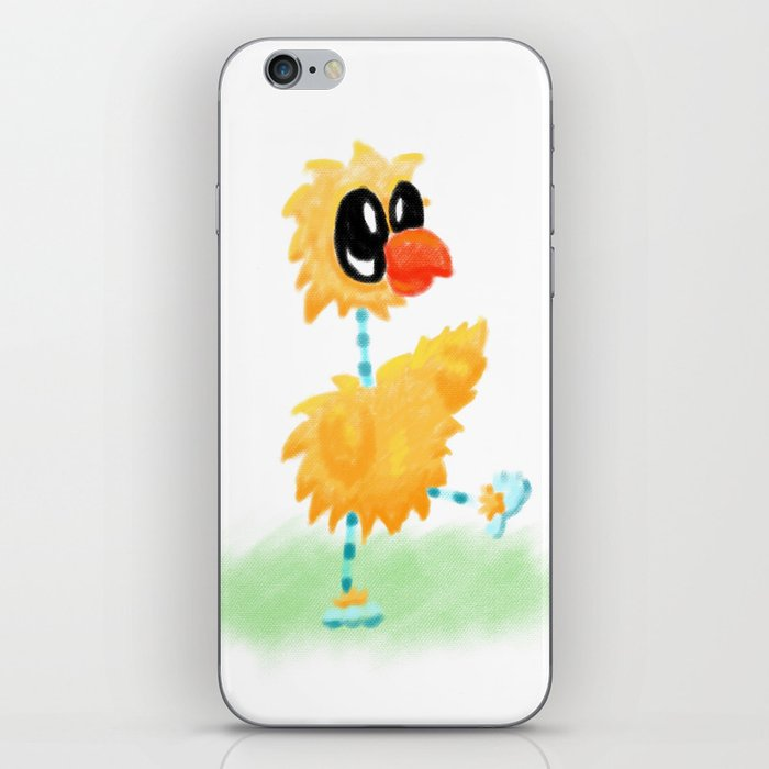 Little Cartoon Chicken Chick With Stripy Feet iPhone Skin
