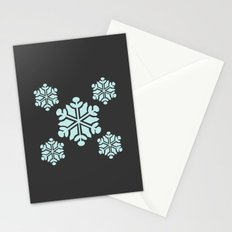 Grey Snowflakes Stationery Cards