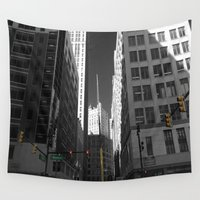 detroit Wall Tapestries featuring Detroit  by Galaxys_Limit