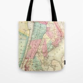 Vintage Map of Westchester New York (1864) Tote Bag