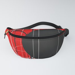 Black Dot Sticker Abstract Fanny Pack