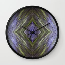 Claret and Moss Waves Wall Clock