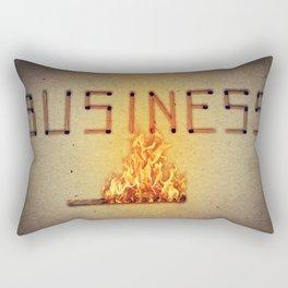 fired business Rectangular Pillow