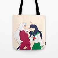 inuyasha Tote Bags featuring SIT BOY by viria