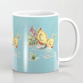 Blue Duckie vintage image Coffee Mug