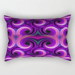 Swirled and Twirled Colors Rectangular Pillow