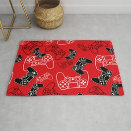 Video Games Red Rug