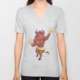 Minotaur Cheer Unisex V-Neck