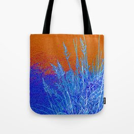 Blue Grass Red Tote Bag