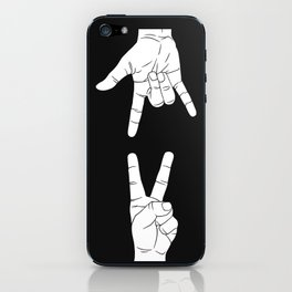 Peace Love and Rock N Roll iPhone Skin