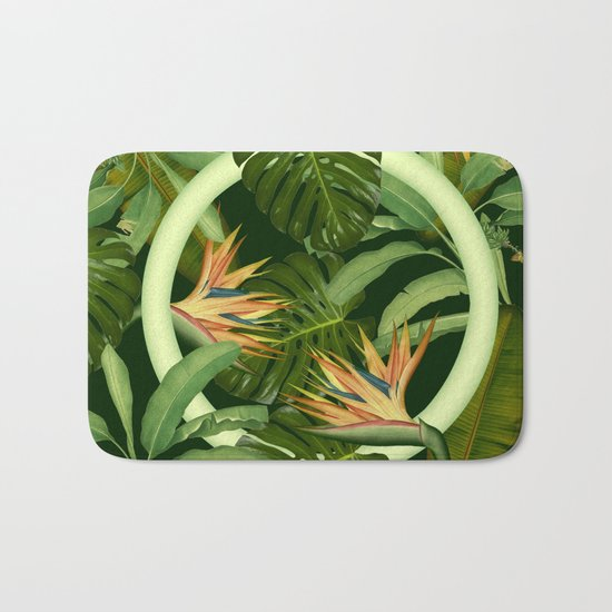 Circle in the Leaves Bath Mat