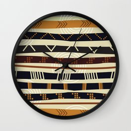 African Tribal Pattern No. 35 Wall Clock