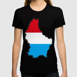 Luxembourg Map with Luxembourger Flag T-shirt