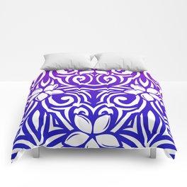 Purple Plumeria Comforters