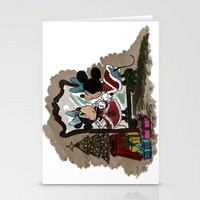 minnie Stationery Cards featuring Minnie Mouses by carotoki art and love
