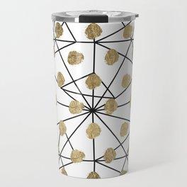 Black faux gold geometrical chic polka dots Travel Mug