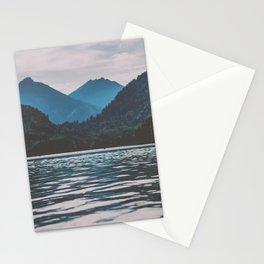 Bannwaldsee, Schwangau  lake in Bavaria Germany Stationery Cards