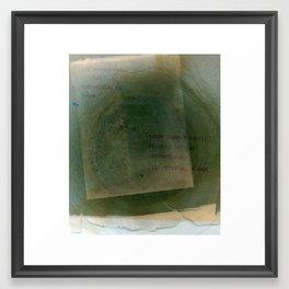 Ten Thousand Words Framed Art Print