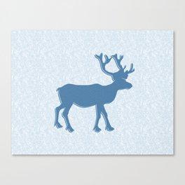 Majestic Blue Deer Canvas Print