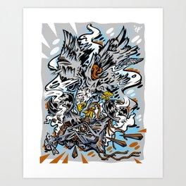 Eagle Vs Drone Art Print
