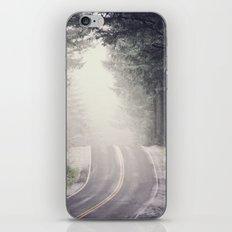Fog Forest - Vintage Wanderlust Snow Mountain Road Trip iPhone & iPod Skin