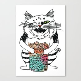Emotional Cat. Playful. Canvas Print