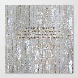 SERENITY PRAYER: BROWN BARN Canvas Print