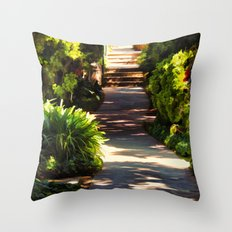 Secluded Path in Autumn Throw Pillow