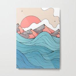 The blue waves and the orange peaks Metal Print