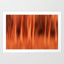 Fiery Forrest Art Print