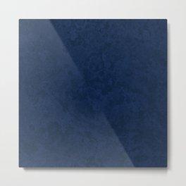 Marble Granite - Deep Royal Blue Metal Print