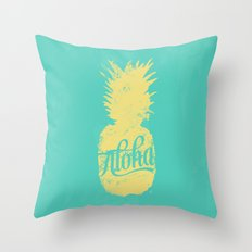 ALOHA - Pineapple print Throw Pillow