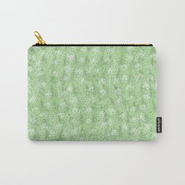 Elegant abstract neo mint feathers polka dots glitter pattern Carry-All Pouch