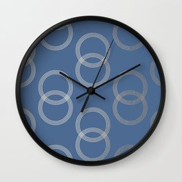 Simply Infinity Link in White Gold Sands on Aegean Blue Wall Clock