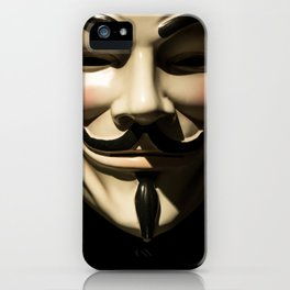 Vendetta face mask - Anonymous symbol iPhone Case