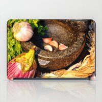 vegetables iPad Cases featuring vegetables by  Agostino Lo Coco