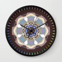 Reverence and Bliss Meditation Mandala Wall Clock