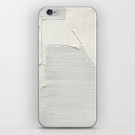 Relief [2]: an abstract, textured piece in white by Alyssa Hamilton Art iPhone Skin