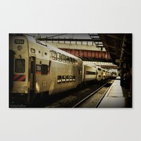 marc allante Canvas Prints featuring Marc Train by Reggie Thomas Photos