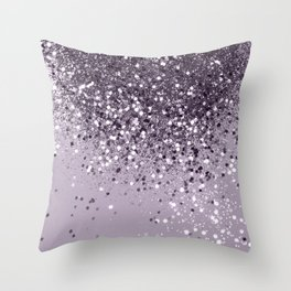 Sparkling Lavender Lady Glitter #2 #shiny #decor #art #society6 Throw Pillow