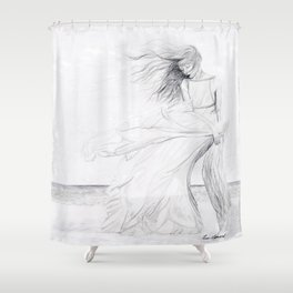 Gracefully Weathering the Storm Shower Curtain
