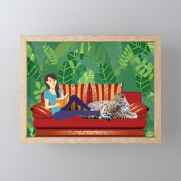 Jungle Dream With Leopard Framed Mini Art Print