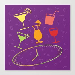 Happy Hour Cocktail Canvas Print